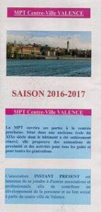 Yoga Science dee Vie : brochure des activités 2016-2017 MPT Valence